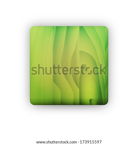 the illustration of blank square button with wooden texture / the wooden button / the button