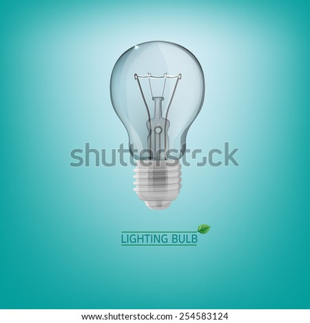 The illustration of lighting bulb. Energy saving concept. Vector image. - stock vector