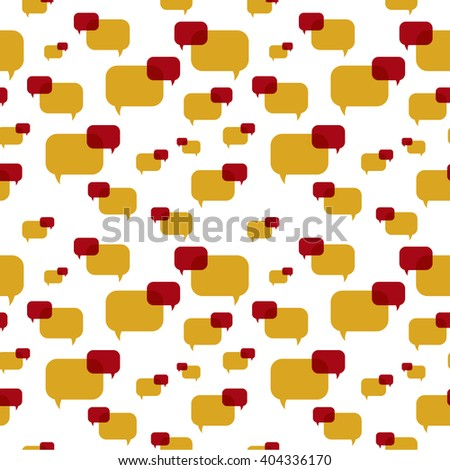 the illustration of speech bubbles pattern / The seamless communication pattern / Speech bubbles - stock vector