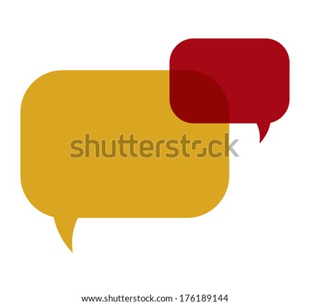 the illustration of two vivid overlapping speech bubbles / The pair of rectangle speech bubbles / Speech bubbles - stock vector