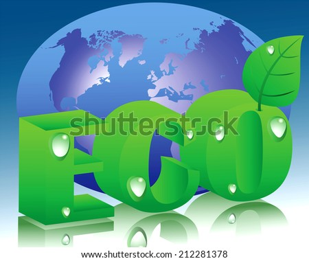 The illustration on the theme of ecology and conservation of natural resources - stock vector