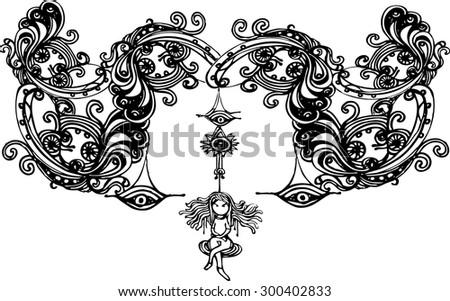 Line Art Vector Illustrator : Illustrator line art pattern vector stock