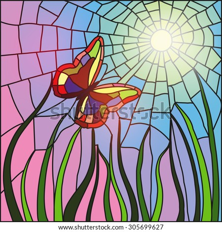 Stained Glass Butterfly Stock Images, Royalty-Free Images ...