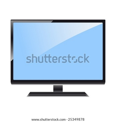 The image of the modern ardent TV in a vector format - stock vector