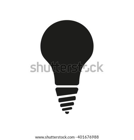 The incandescent lamp icon. Lamp and bulb, lightbulb, filament lamp, glow-lamp, light bulb symbol.UI. Web. Logo. Sign. Flat design. App. Stock vector - stock vector