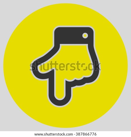 Index Finger Pointing Down Hand Gestures Stock Vector 387866776