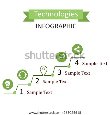 the infographic illustration dedicated to the  technologies.  - stock vector