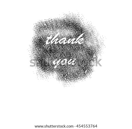 "the inscription: ""Thank you"" in a cloud of black dots. For online shopping, cards, posters, banners, etc."