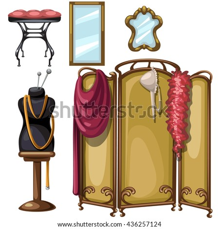 The interior of the sewing Studio. Vector. - stock vector