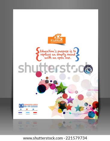 The International School Front Flyer & Poster Template  - stock vector