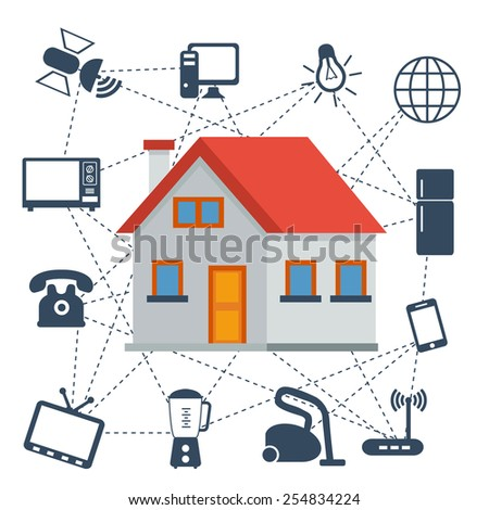 The Internet of Things vector illustration. - stock vector