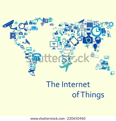 The internet of things. Vector illustration. Modern infographic template - stock vector