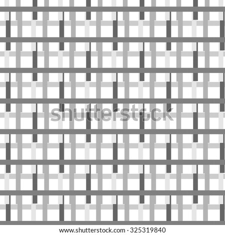 the intersection of the rectangular lines of dark and light shades of gray on a white background. New original colorful vector illustration.