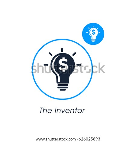 the inventor. modern website icon