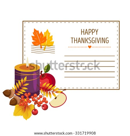 The invitation for thanksgiving, vector illustration of colorful banner - stock vector