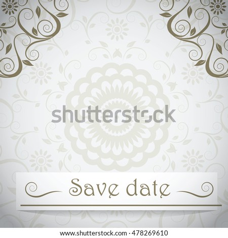 The invitation with abstract background.Vector illustration for your design