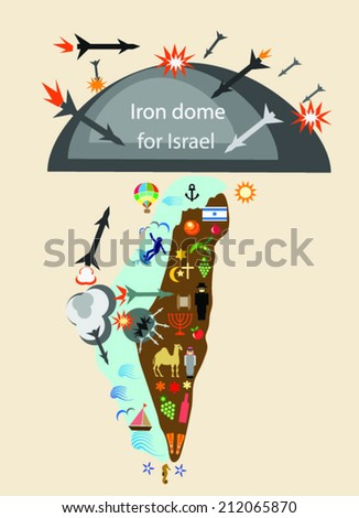the iron dome protects Israel from Hamas