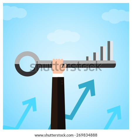The key to success. - stock vector