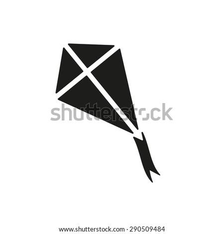 The kite icon. Kite symbol. Flat Vector illustration - stock vector