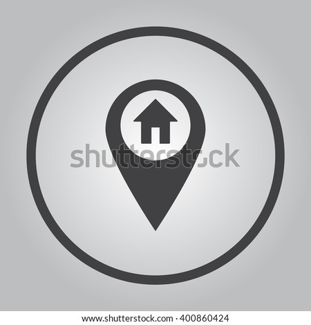 the label on the map icon