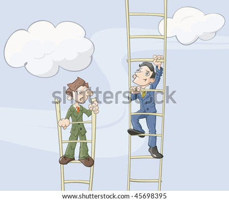 The ladder of career - stock vector