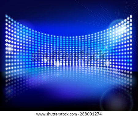 The led screen. Vector illustration. - stock vector
