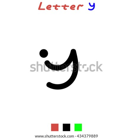 The Letter Y For Logos Icons Web Design Template Element Black
