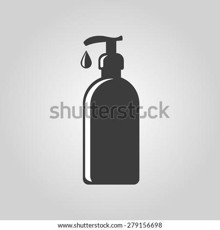 The Liquid Soap, Lotion, Cream, Shampoo icon. Shower Gel symbol. Flat Vector illustration - stock vector