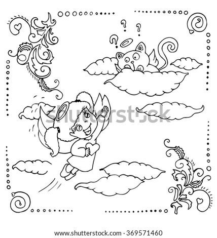 Santa Claus On Roof Coloring Sketch Templates on winter wonderland clip art black and white