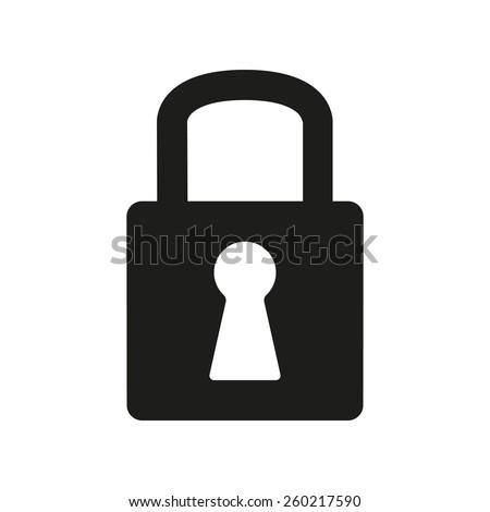 The lock icon. Lock symbol. Flat Vector illustration - stock vector