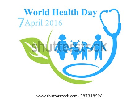 The Logo Of World Health Day With Image A Family