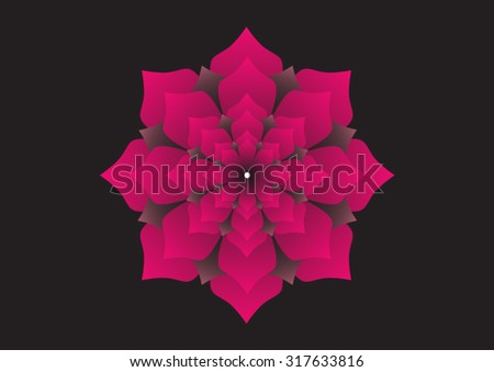 Lotus flower represents transformation buddhist philosophy stock the lotus flower represents transformation in buddhist philosophy and its fractal structure has to do with mightylinksfo