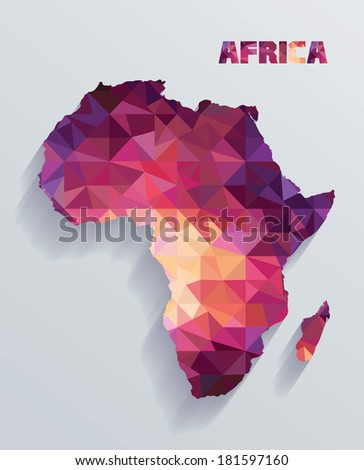 The map of Africa - stock vector