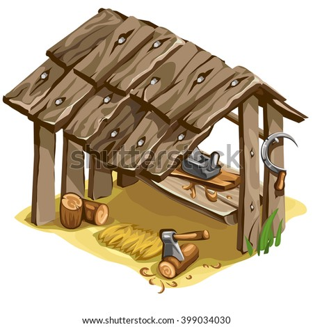 The master workstation. Vector illustration. - stock vector