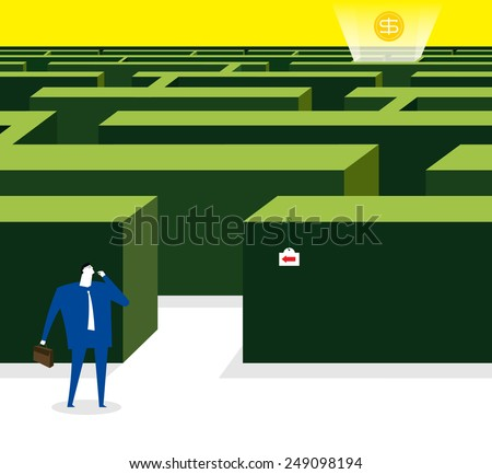The maze garden in life - stock vector