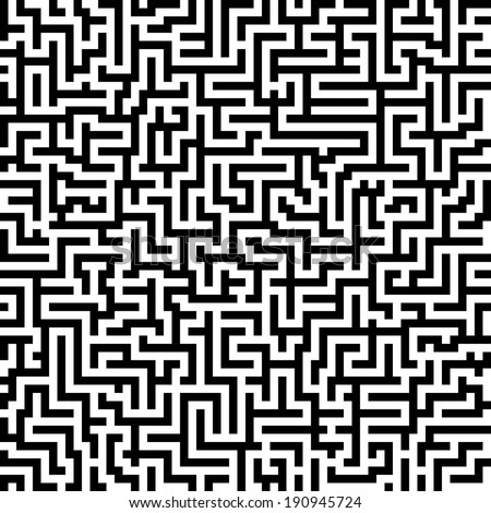 the maze / labyrinth - endlessly - stock vector
