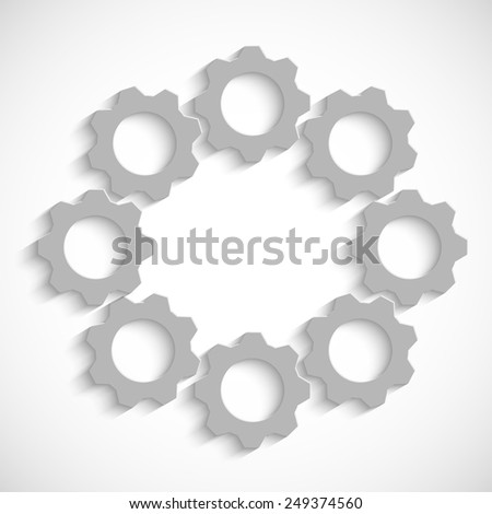 The mechanism of gears - stock vector