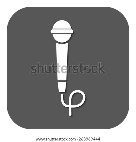 The microphone icon. Sound symbol. Flat Vector illustration. Button - stock vector