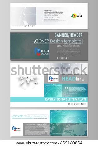 Social media email headers set modern stock vector 635616062 the minimalistic vector illustration of editable layout of social media email headers banner design altavistaventures Images
