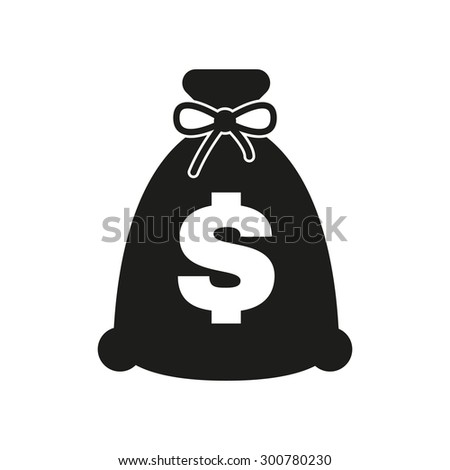 The money bag icon. Cash and money, wealth, payment symbol. Flat Vector illustration - stock vector