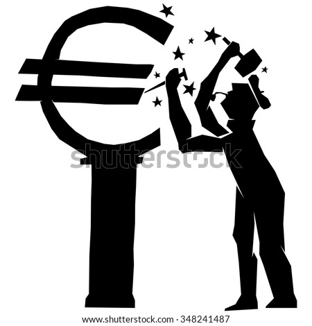 The Money Maker, euro, sell, buy, economy, european, dollar, economic, union, icon, sculptor, pay, europe, economist, boss, global, key, symbol, statue, legal, letter, illustration, stock, exchange