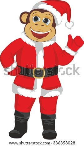 The monkey in the Santa suit