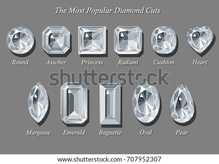 Diamond Cuts And Shapes Stock Images Royalty Free Images