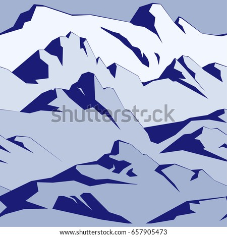The mountains seamless pattern
