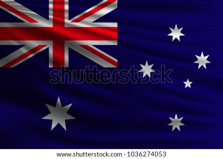 National Flag Australia Symbol State On Stock Vector 1036274053
