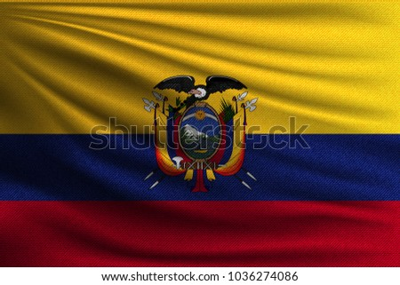 National Flag Ecuador Symbol State On Stock Vector 1036274086
