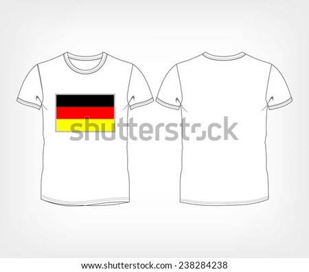 the national team of Germany. t-shirt with the flag of Germany - stock vector