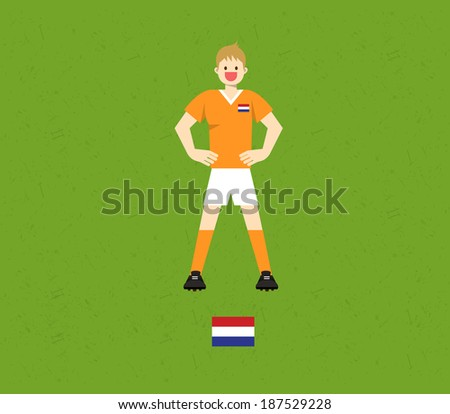 the Netherlands Soccer Tables  - stock vector