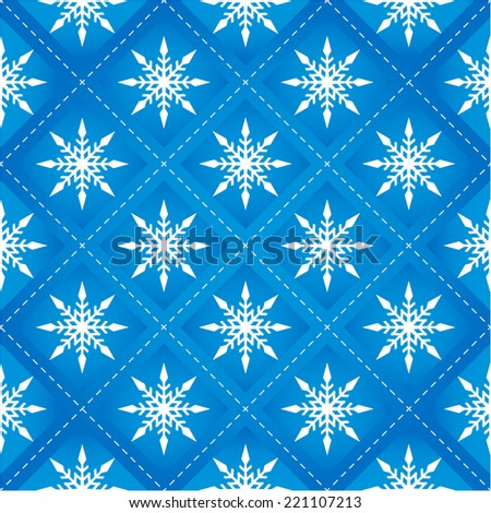 The New year Seamless Pattern with Snowflakes