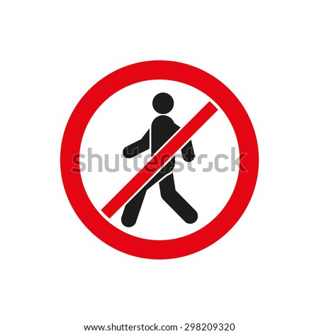 No Entry Icon Disallowed Danger Warning Stock Vector 2018